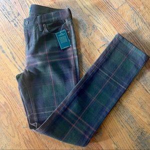 Ralph Lauren Modern Skinny Blackwatch Plaid Jeans